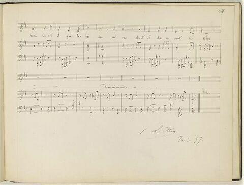 Partition musicale : 'La Brise'