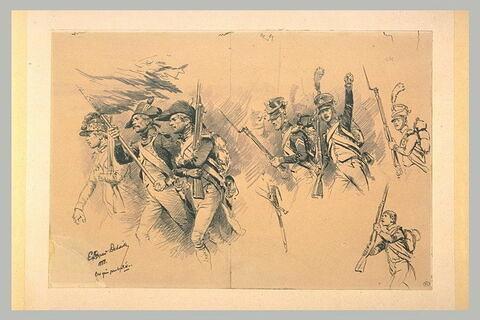 Groupes et figures de soldats des époques Révolutionnaire et Impériale
