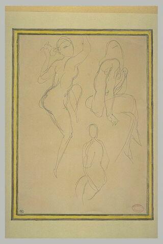 Etudes de trois femmes nues