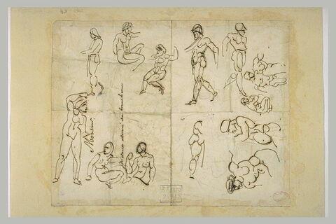 Etudes de figures nues