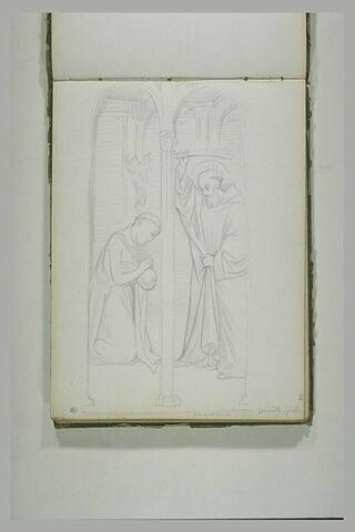Saint Benoît libérant un moine du démon