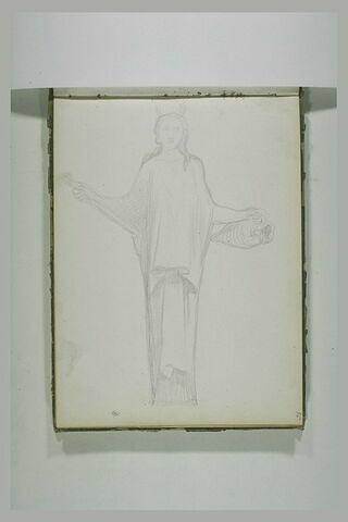 Figure drapée portant une cruche