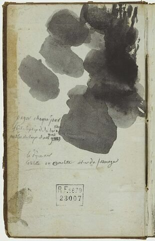 Note manuscrite et taches
