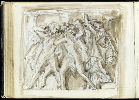 Scène de combat, d'après l'antique