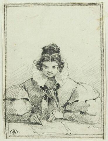 Jeune fille dessinant