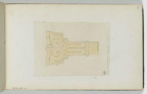 Détail de colonne relevé à l'Alhambra