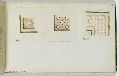 Deux motifs d'ornement à thème géométrique