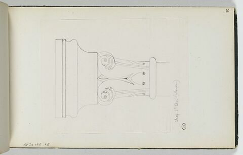 Décor d'un chapiteau de l'église Saint-Eloi à Noyon
