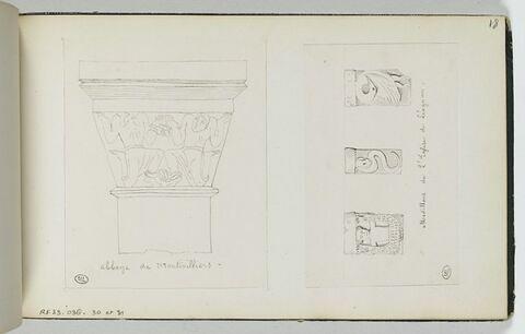 Chapiteau de l'abbaye de Montivilliers