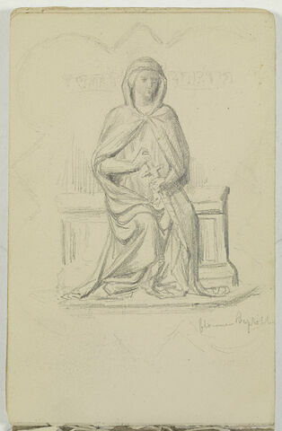 Etude d'une statue du Baptistère de Florence