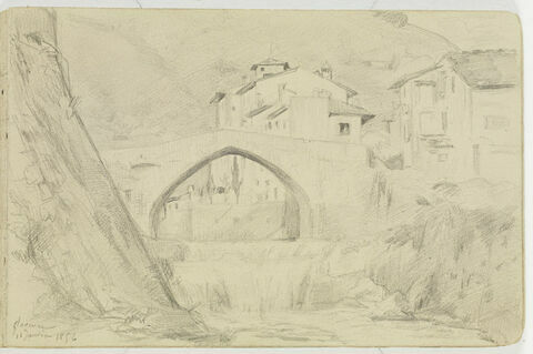 Maisons et pont, à Florence