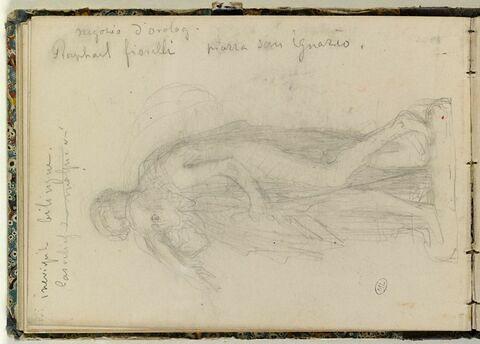 Notes manuscrites ; femme guidant un homme