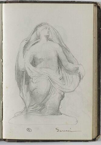 Etude d'après une sculpture : Danaé