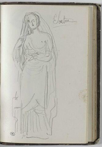 Figure féminine drapée : Electre