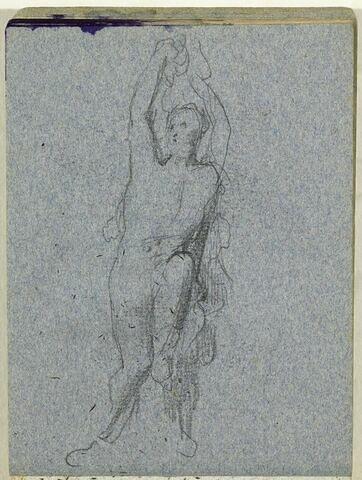 Figure nue, bras levés