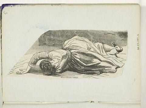 Femme allongée à terre