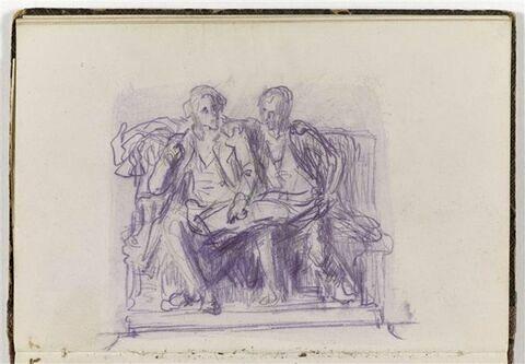 Deux hommes assis sur un banc