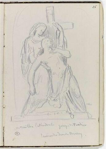 Croquis d'après le tombeau du Duc de Berry dans la cathédrale de Versailles