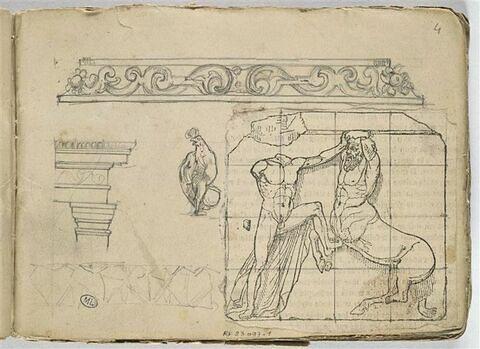 Combat d'un Centaure et d'un Lapithe, d'après un bas-relief antique