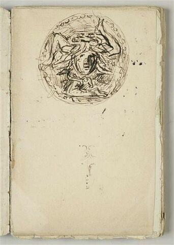 Tête de Méduse dans un médaillon