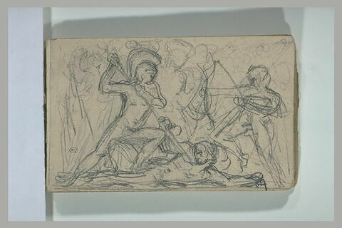 Scène de combat d'après l'antique