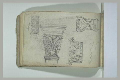 Etudes de détails architecturaux des XIème et XIIème siècles