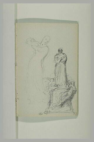 Projet pour un monument à Balzac ; figure féminine