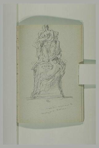 Projet pour un monument à Balzac et annotation