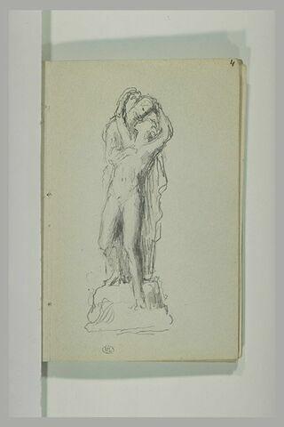 Deux figures enlacées : Héro et Léandre (?)