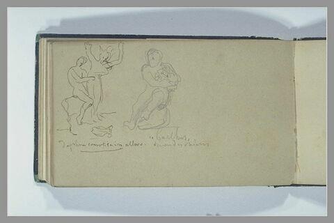 Apollon et Daphné ; Bacchus assis