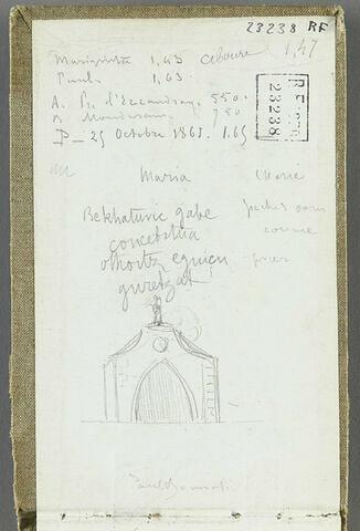 Annotation et façade d'église