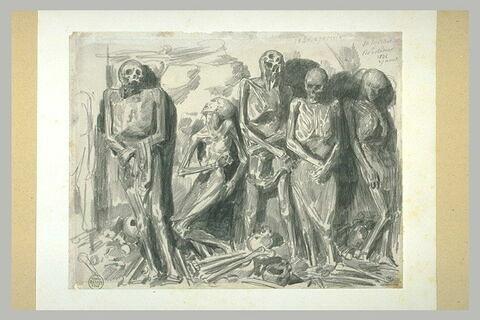 Cinq cadavres momifiés, plus ou moins affaissés