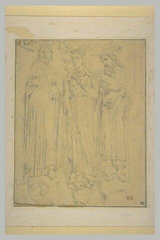 Etude d'après les statues d'un portail d'église