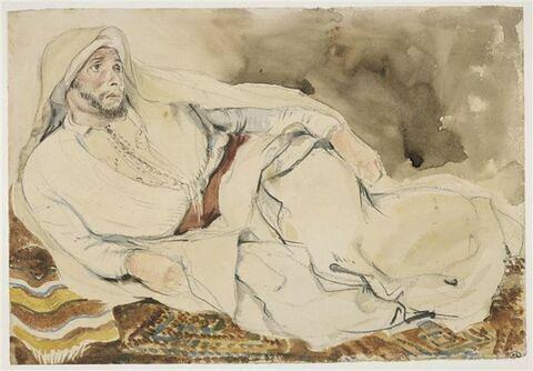 Arabe couché sur un tapis