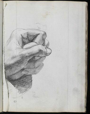 Etude de poing gauche serré