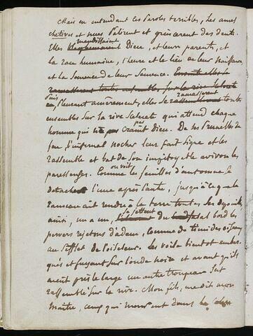 Long texte manuscrit