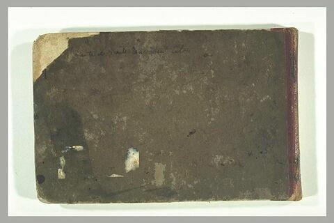 Note manuscrite : 'Le Dante et Virgile rencontrent Caton'