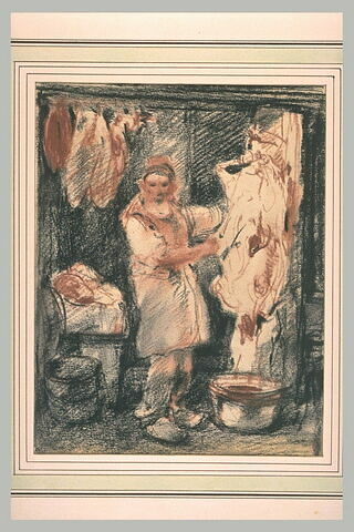 Boucher saignant un cochon