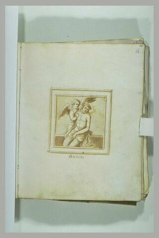 Christ de douleur soutenu par un ange