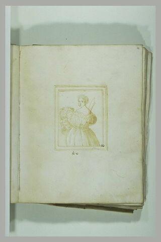 Judith tenant de la main gauche la tête d'Holopherne