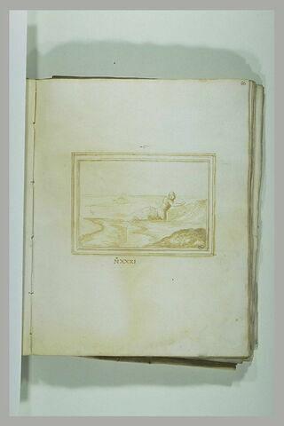 Figure se jettant dans la mer