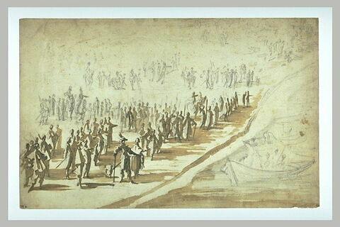 Louix XIII et Richelieu au siège de l'île de Ré