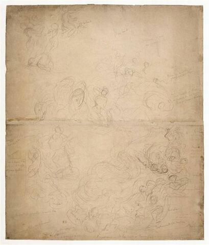 Etude pour le plafond de la Galerie d'Apollon au Louvre
