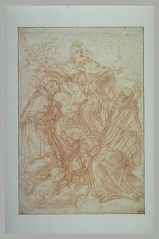 Etude pour un tableau d'autel avec trois saints