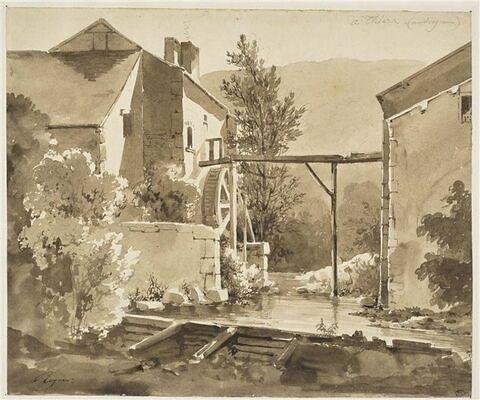 Moulin à eau, à Thiers, en Auvergne