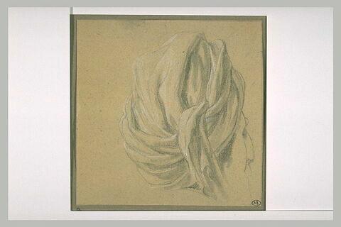 Tête d'homme coiffée d'un turban, de profil à droite