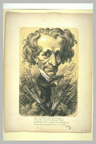 Portrait-charge de Berlioz