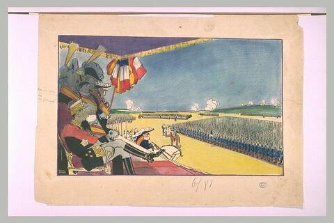 Revue militaire en l'honneur d'Alphonse XIII, à Vincennes