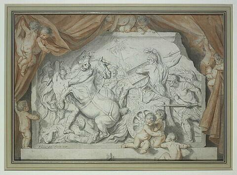Diomède assailli par les Troyens, son écuyer tué à côté de lui
