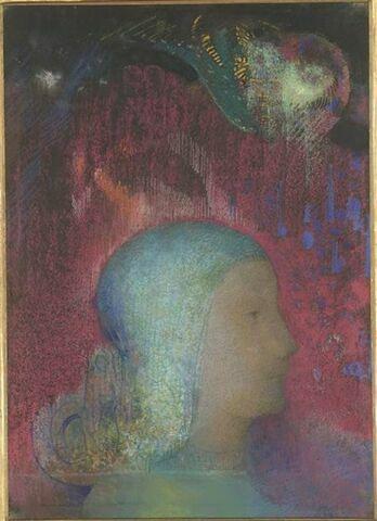 Jeanne d'Arc : la tête seule, de profil à droite